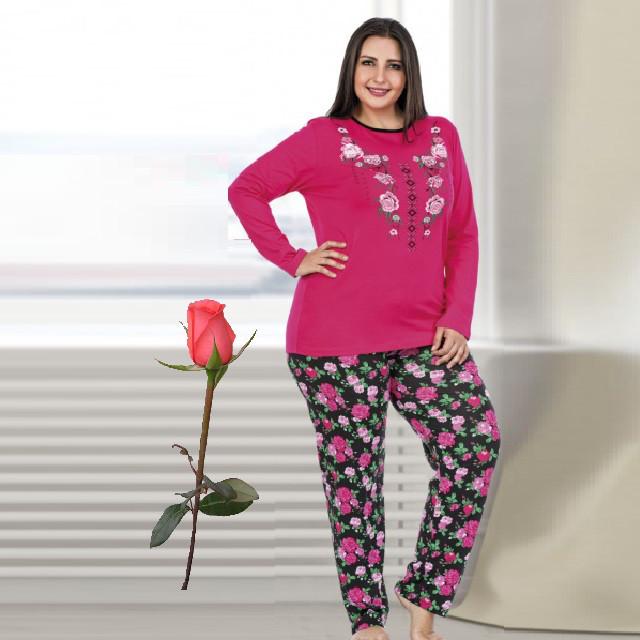 Женская пижама из турецкого трикотажа Большой размер Т 77139