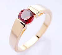 "Кольцо Swarovski ""Красный кристалл"", фото 1"