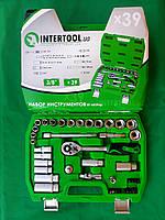 """Набор накидных головок и комплектующих на 39 единиц. """"InterTool series"""". (8-22мм) 3/8"""" (72T)."""