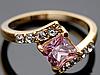 "Кольцо Swarovski ""Розовый кристалл"""