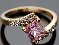 """Кольцо Swarovski """"Розовый кристалл"""", фото 1"""