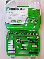 "Набор торцевых головок и комплектующих на 39 единиц. ""InterTool series"". (8-22мм) 3/8"" (72T)."