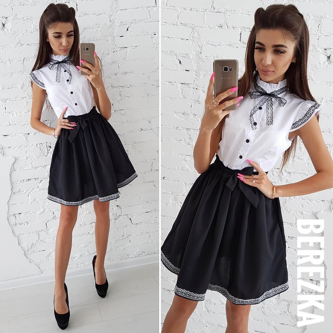 d9aee0ba0d6 Платье Белый Верх Черный Низ с Кружевом — в Категории