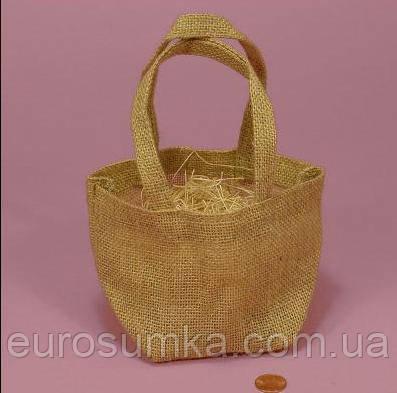 Подарочные эко сумочки из джута от 100 шт.