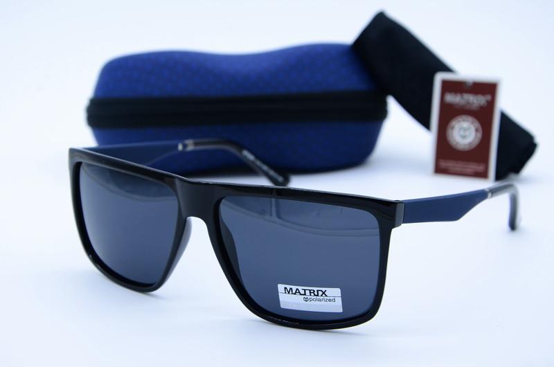 Мужские фирменные очки Matrix черные синим  МТ8289 10-91-А570
