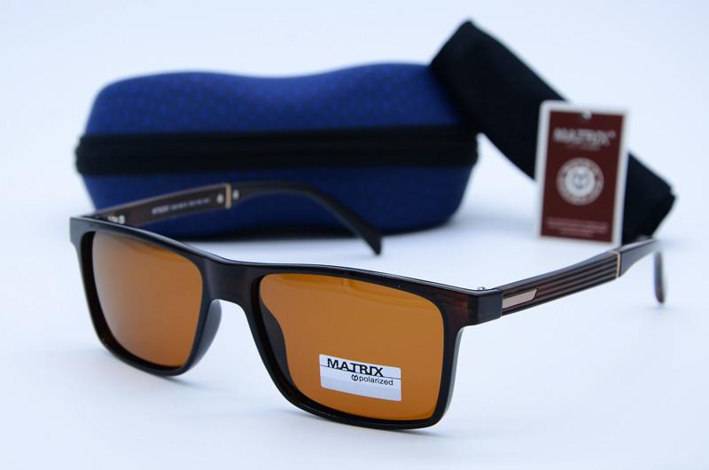 Мужские фирменные очки Matrix коричневые