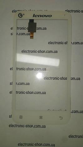 Сенсор белый  Lenovo a398t Original б.у, фото 2