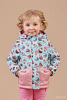 Куртка для девочки демисезонная, р.80
