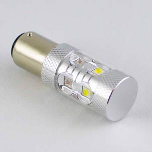 Светодиодная автомобильная лампа с цоколем 1157(P21/5W)(BAY15D) Osram 40W жёлтый/белый, фото 2