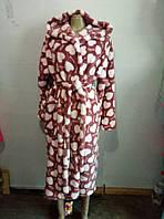 Халаты банные махровые с капюшоном, размеры M L XL XXL до 54 размера, фото 1
