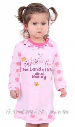 806d11fe7f2f Ночная рубашка для девочек Milk and Honey, Роза, бежевая (86 р.)  (150223/86, Бежевий)