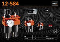 """Фильтр-редуктор-маслораспылитель 1/2"""" для пневмоинструмента, NEO 12-584"""