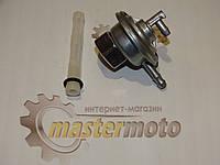 """Кран топливный для скутера Хонда Дио вакуумный на 2 выхода, с гайкой на бак под ключ 22"""", """"Mototech"""""""
