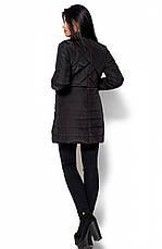 Женская деми куртка Пэрис черная, р.42-48, фото 3