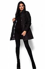 Женская деми куртка Пэрис черная, р.42-48, фото 2