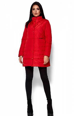 Женская деми куртка Пэрис красная, р.42-48, фото 2