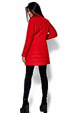 Женская деми куртка Пэрис красная, р.42-48, фото 3