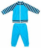 Комплект домашней одежды для мальчика, Danaya, голубой в полоску (92 р.) (074G_92-52)
