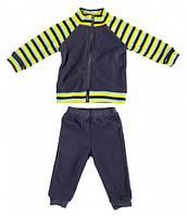 Комплект домашней одежды для мальчика, Danaya, серый в полоску (86 р.) (076G_86-52)