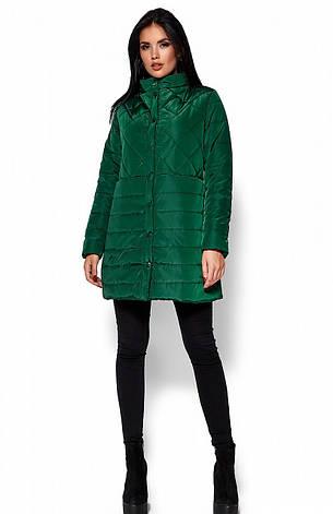 Женская деми куртка Пэрис зеленая, р.42-48, фото 2