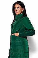 Женская деми куртка Пэрис зеленая, р.42-48, фото 3