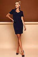 Отличное Платье для Офиса и не только Т/Синий р. S M L XL