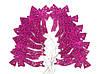 Набор подвесок - бантики малиновые 12 шт., фото 4