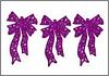 Набор подвесок - бантики малиновые 12 шт., фото 5