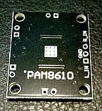 Підсилювач звуку РАМ8610 2*15 Вт D клас, стерео модуль., фото 3