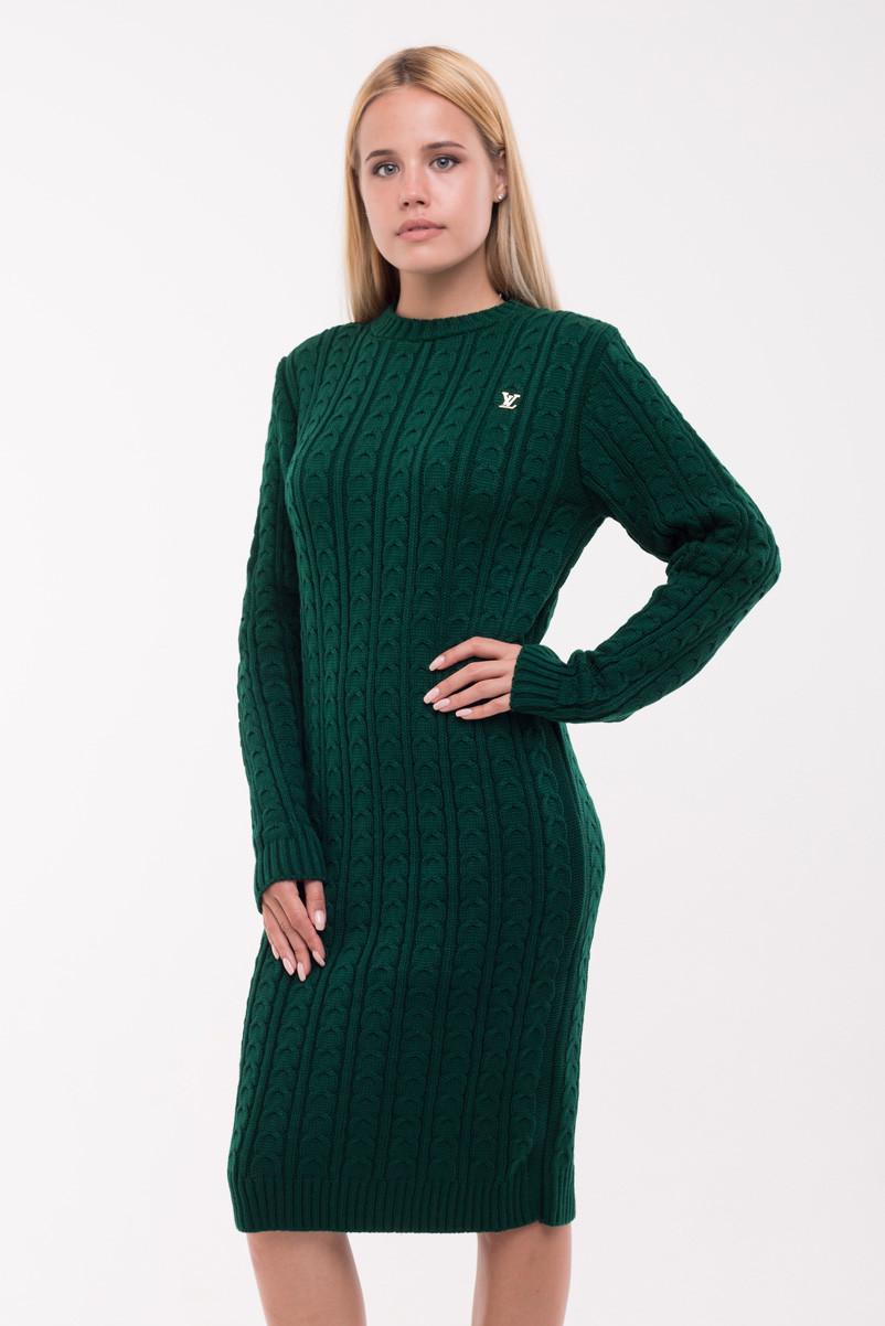 """Теплое платье """"Ромашка"""" с эмблемой YSL"""