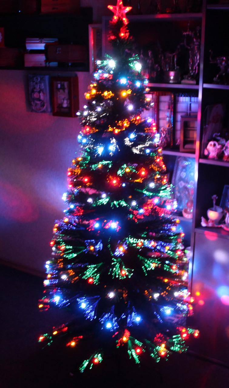 Светящаяся светодиодная оптоволоконная елка 300 см, 7 режимов vip300