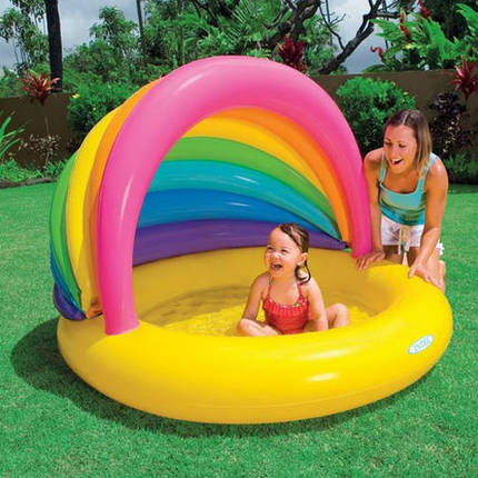 Детский надувной бассейн Intex, 57420 (155х135х104см), фото 2