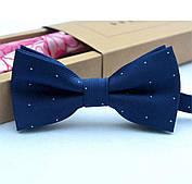 Детский галстук-бабочка, синий (регулируется на возраст 1-14 лет)