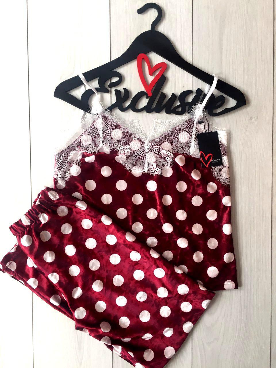 велюровый комплект  для сна штаны с майкой