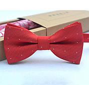 Детский галстук-бабочка, красный (регулируется на возраст 1-14 лет)
