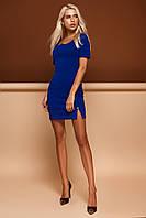 Элегантное Платье Универсальное с Фигурным Вырезом Синий р. S M L XL