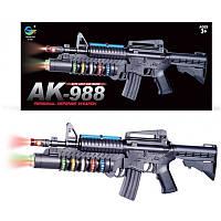 Автомат АК-988 на батарейках со светом и звуками, Personal Defense Weapon