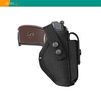 Кобура ПМ поясная черная с карманом для магазина (021)