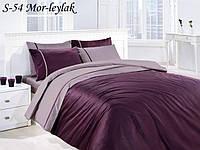 Комплект постільної білизни First Choice Mor Leylak сатин 220-200 см фіолетовий, фото 1