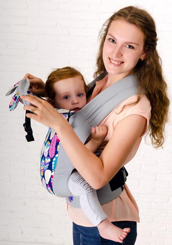 Эргономичный рюкзак Sunny «Перышки», Малышастик