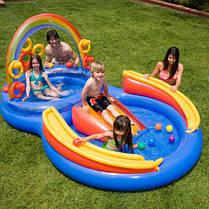 Надувной детский игровой центр - бассейн Intex 57453 Радуга (297х193х135см), фото 3