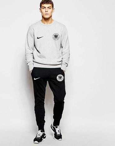 Футбольный костюм сборной Германии, Germany, Adidas, Адидас, серо-черный, ф4804, фото 2
