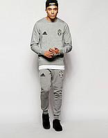 Мужской спортивный костюм Ювентус, Juventus, Adidas, Адидас, серый