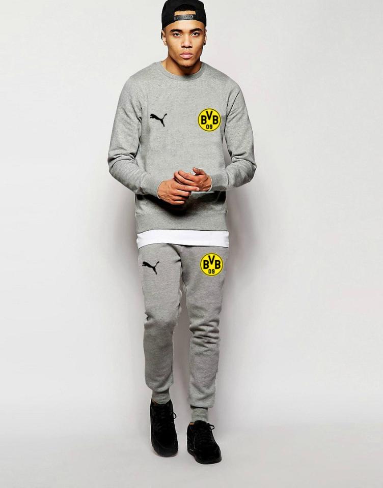 Футбольный костюм Боруссия, Borussia, Puma, Пума, серый