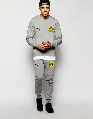 Футбольный костюм Боруссия, Borussia, Puma, Пума, серый, фото 2