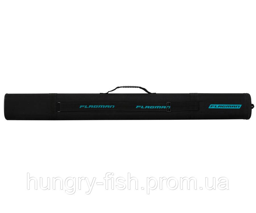 Тубус для удилищ Flagman овальный черный 125х65мм 145cм