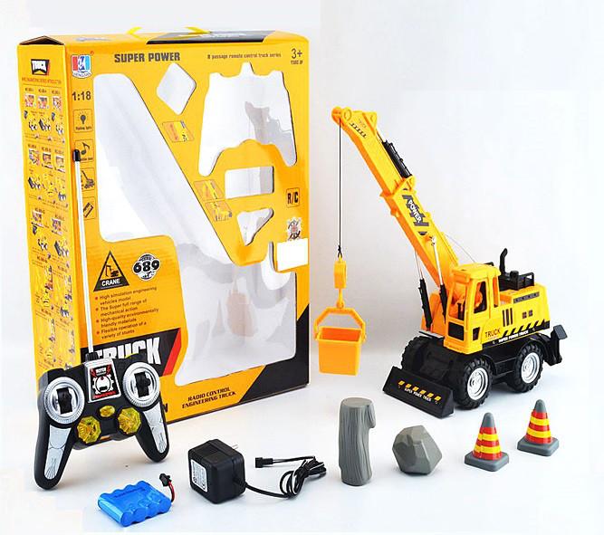 Радиоуправляемая игрушка HENGJIAN кран на р/у 1:18 Желтый (SUN1725)