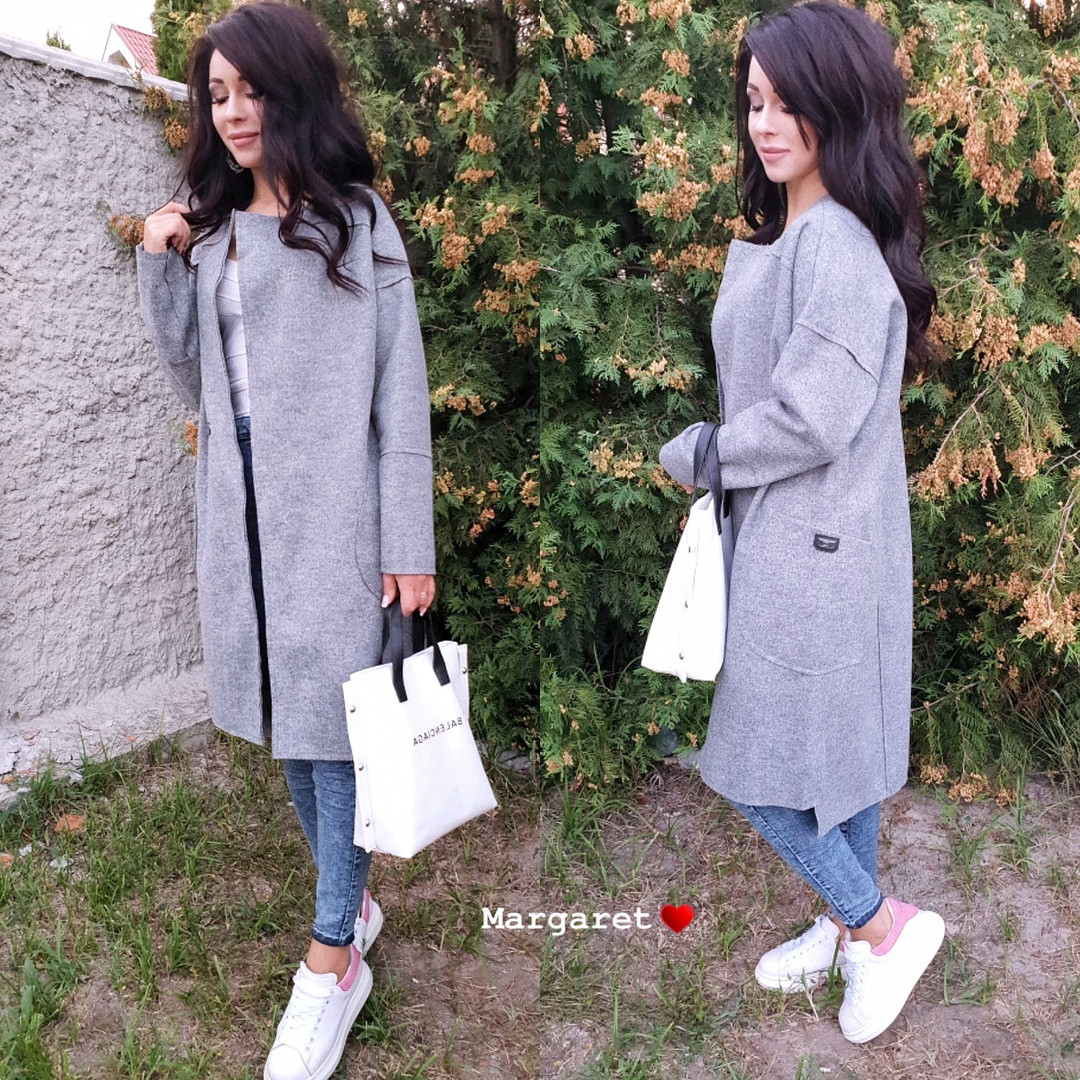 Осеннее пальто-кардиган в разных расцветках  продажа 4ec005d4e2d96