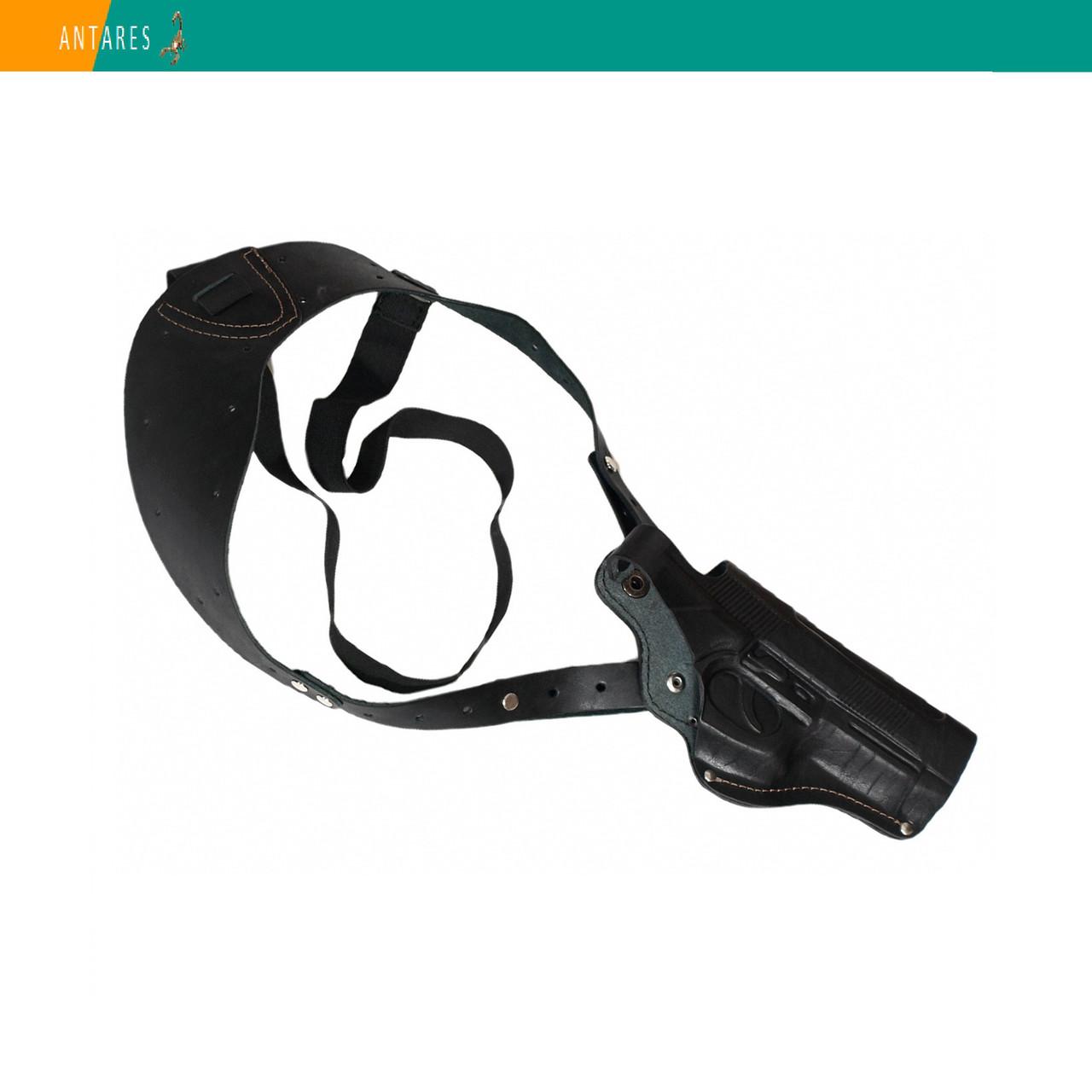Кобура Beretta M-92 оперативная натуральная кожа (005) плечевое ношение под мышкой