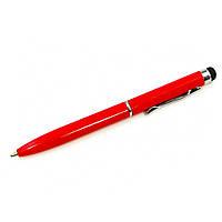Стилус ёмкостный  PS100, с шариковой ручкой, металлический, красный